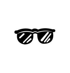 trendy black glasses that love stars and young vector image