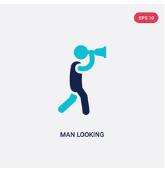 two color man looking icon from business concept vector image