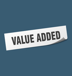 Value added sticker value added square isolated vector