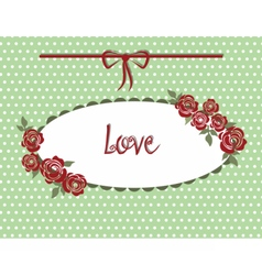 Vintage style Love card vector