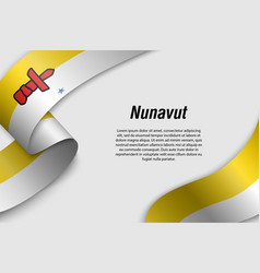 waving ribbon or banner with flag province of vector image