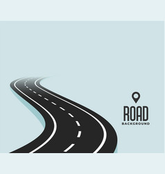 Winding curve black road path background design vector