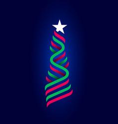 zigzag stripes white star xmas new year symbol vector image