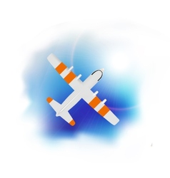 airplane flying vector image vector image