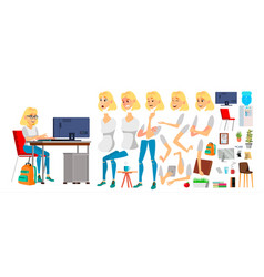 business woman character working female vector image