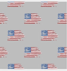 independence day usa flags seamless pattern united vector image vector image