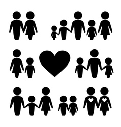 People Family icons set vector image