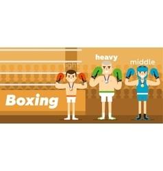 Boxing team awarding at ringside vector image vector image