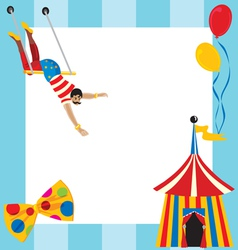circus party invitation vector image vector image