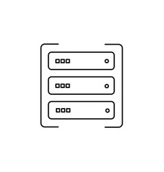data server icon vector image vector image