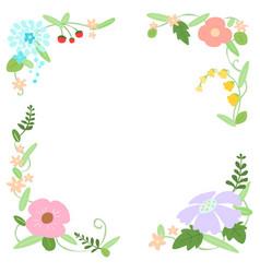 decorative flower frame vector image