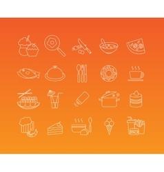 Food mono line icon set vector image vector image