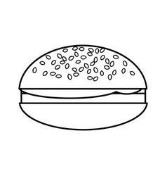 hamburger isolated icon vector image vector image