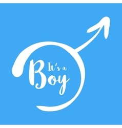 Its a boy - baby shower invitation template vector image