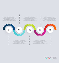 Timeline Infographic Design Templates Diagrams and vector image vector image
