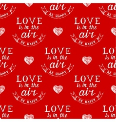 Valentines day typography seamless vector image vector image
