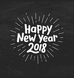 happy new year 2018 typography vector image