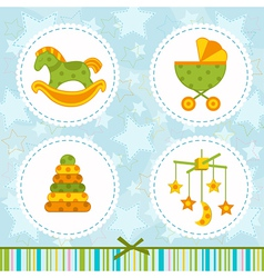 icon baby vector image