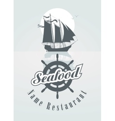 menu for the seafood vector image