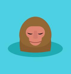 monkey head character animal wild zoo ape vector image