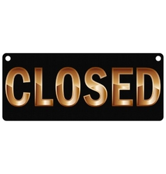 Plate closed vector image