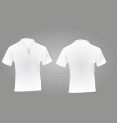 polo shirt white vector image