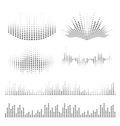 Sound waves design vector image vector image