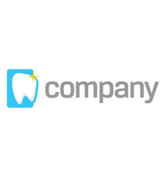 white tooth logo vector image vector image