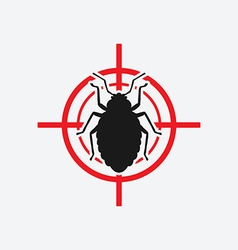 bug icon red target vector image
