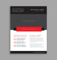 red and black business brochure design vector image