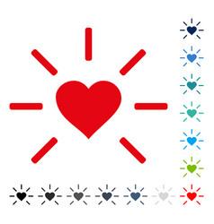 shine heart icon vector image vector image