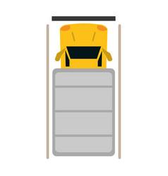 truck top view parking lot vector image vector image