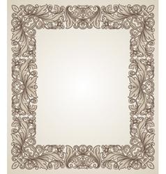 Vintage filigree frame with floral patterns vector image vector image