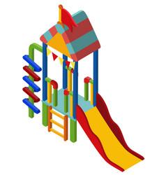 3d design for colorful slide vector image