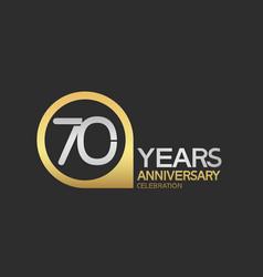 70 years anniversary celebration simple design vector