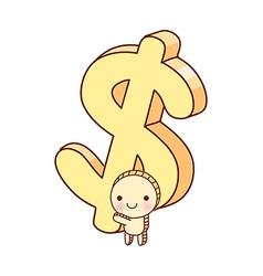 A money icon vector