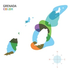 Abstract color map of grenada vector