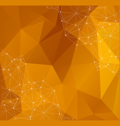 abstract polygonal background triangular tech vector image