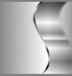 abstract silver waves with copy space vector image