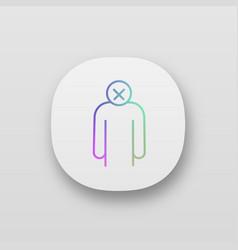 Apathy app icon vector