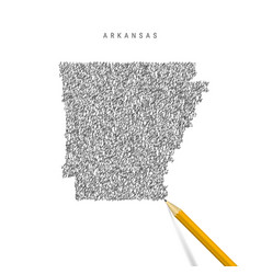 Arkansas sketch scribble map isolated on white vector