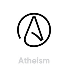 Atheism religion icon editable line vector