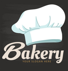 bakery chef hat icon background image vector image