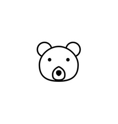 bear animal icon vector image