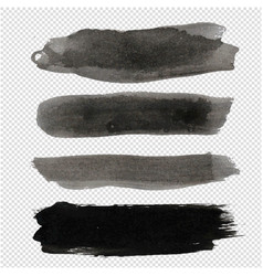 big black blot collection transparent background vector image