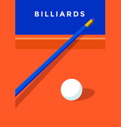 Billiard sport poster vector