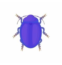 Bug icon cartoon style vector image