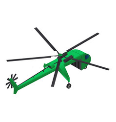 cargo helicopter icon isometric style vector image