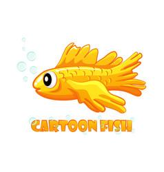 cartoon aquarium goldfish on a white background vector image