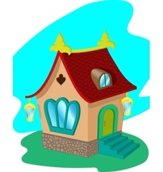 Cartoon fairy house vector